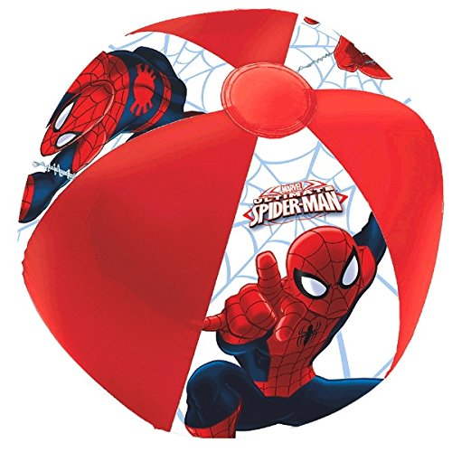 Amscan Spider-Man Inflatable Ball Favour Toy & Prize Give Away Childrens Party Favor Sets , 12 - Spider Man Inflatable