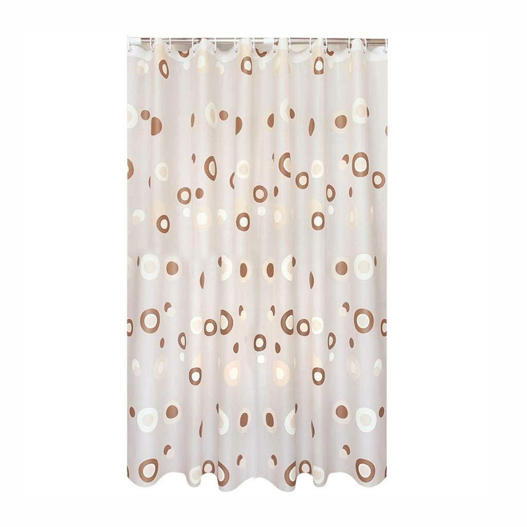 Curtain EVA Plastic Waterproof Shower Curtain Plus Thick Partition Bathroom Shower Curtain Shower Equipment (Size : M)
