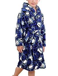 Suplike Boys flannel children's robe Coral velvet pajamas baby bathrobes