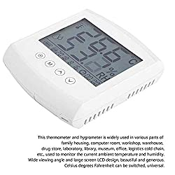 YBZS Medical Infrared Thermometer,Digital Thermometer Hygrometer, ABS Environmental Protection Material, Suspended Humidity Monitor Environmental Measurement