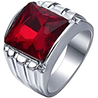Nongkhai shop Huge Natural 5ct Ruby 925 Silver Women Men Vintage Wedding Prom Ring Size 6-10 (7)