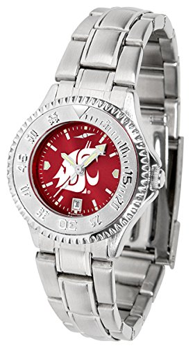 Linkswalker Washington State Cougars Ladies' Steel Anochrome Watch