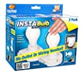 InstaBulb Battery Operated Light Bulb, 2 Pack 1 ea by InstaBulb