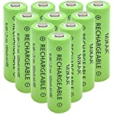 MJKAA AA Rechargeable Battery High Performance 1.2V Ni-MH AA Batteries (10 Pack)