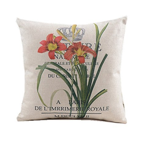 pillow case 16inch Flower£¬Imperial Crown£¬Letter Twin Sides Pillowcase Pillow Cases Cover Home Decorative