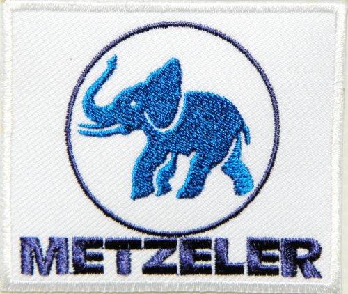 METZELER Tires Logo Automotive Performance MotoGP Motorcycles Car Racing Motorsport Biker Racing Patch Iron on Applique Embroidered T Shirt Jacket Costume Accessories Craft