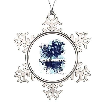 d59c329880e Adornos de Metal Love literatura rama de árbol decoración para árbol de  Navidad decoración