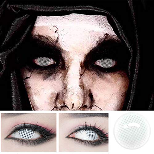 Halloween Men Women Multi-Color Colored Cute Charm and Attractive Fashion Contact Lenses Cosmetic Makeup Eye Shadow (Color1) -