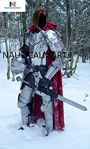 NAUTICALMART Medieval Knight Wearable Full Suit of Armor- LARP Custom Size