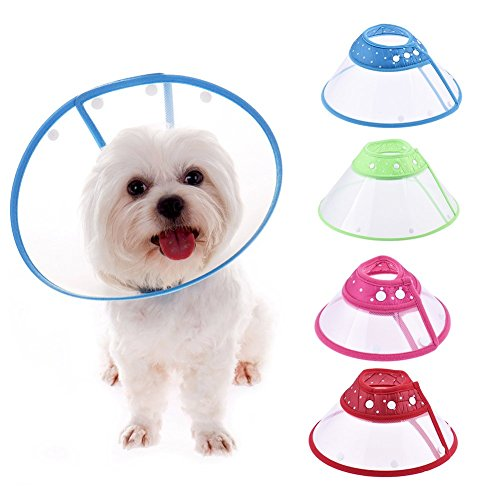 (Pet Recovery E-Collar Protective Funnel Cover Adjustable Recovery Cone Anti Bite Lick for Dog and Cat Random Color)