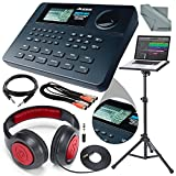 Alesis SR-16 16-Bit Stereo Drum Machine and Platinum Bundle w/ Laptop Stand, Headphones, Cables and Fibertique Cloth