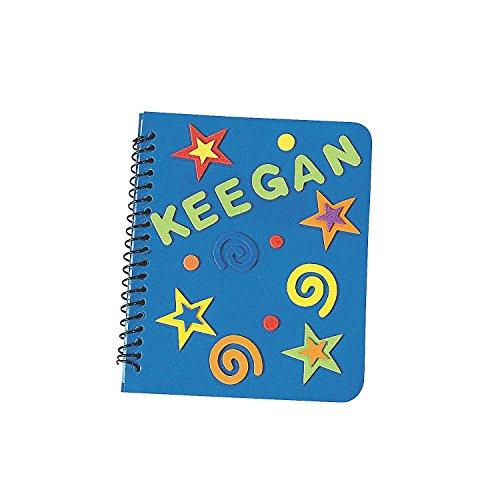 Fun Express Fabulous Foam DIY Notebooks (Set of 12) Craft Kits for Kids ()