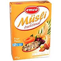 Emco Musli Traditional - Fruit Pieces, 375 g, Pack of 1