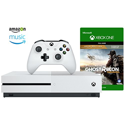 Xbox One S 500GB Console + Ghost Recon Wildlands Gold Digital Game + Amazon Music and Video Exclusives