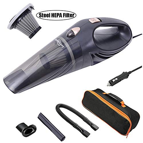 sundopt Car Vacuum Cleaner High Power 4500PA Powerful Strong Suction 106W DC 12V Portable Handheld Auto Vacuum Cleaner 16.4ft Cord with Carry Bag