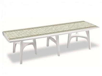 Tavoli Da Giardino Scab.Tavolo Da Giardino Rettangolare President 3000 Pietra Deco Top