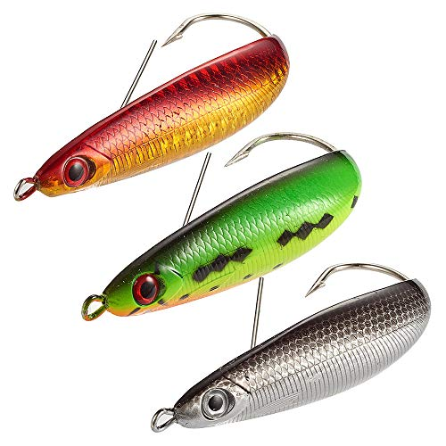 (Dr.Fish Minnow Spoon Bass Fishing Lure Kit Spoon Minnow Weedless Casting Jig Assortment 3 Freshwater Saltwater Lures 3.6