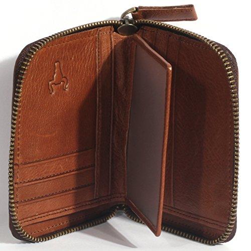 J Fold Bi Fold Wallet (H&J Men's Genuine Leather Short and Long Zip-around Bifold Wallet ( 3 Size) (Size M : 43.80.8 IN, Model A))