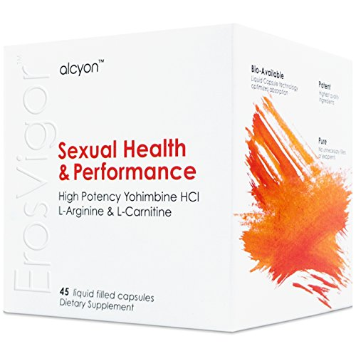 ErosVigor™ - LiquidCap Sexual Enhancement & Performance Supplement for Men & Women | High Potency Yohimbine HCl 5 mg, L-Arginine 250 mg & L-Carnitine 430 mg | Libido Booster & Sex Drive for Couples