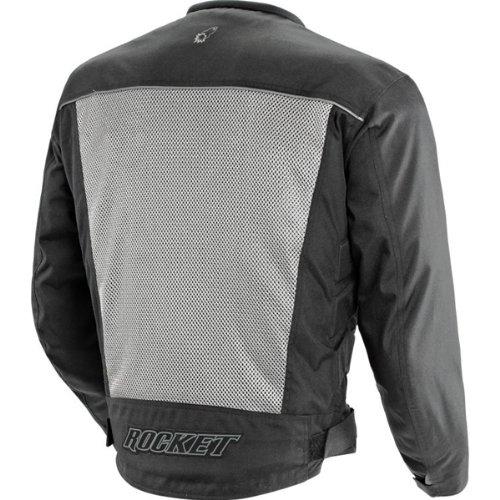 Joe Rocket Velocity Mens Grey/Black Mesh Motorcycle Jacket - 2X-Large