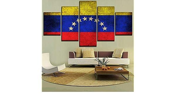 mmwin 5 Unidades Bandera de Venezuela Decoración para el hogar ...