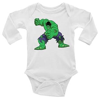 fc3e7dc906f2 Amazon.com  Hulk Long Sleeve Unisex Onesie (6-12)  Baby