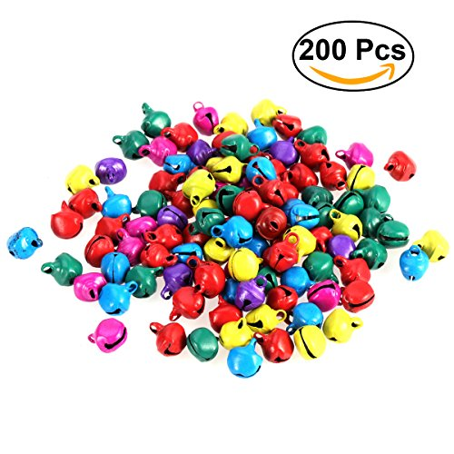 1/2 Inch Jingle Bell - ULTNICE 200pcs Christmas Jingle Bells Small Bell Beads Pendants for Jewelry Making 10mm