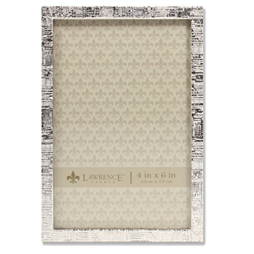 Silver Metal Linen Pattern Picture Frame ()