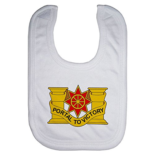 1612 Sb (Microfiber Baby Bib - US Army 10th Transportation Battalion, DU)