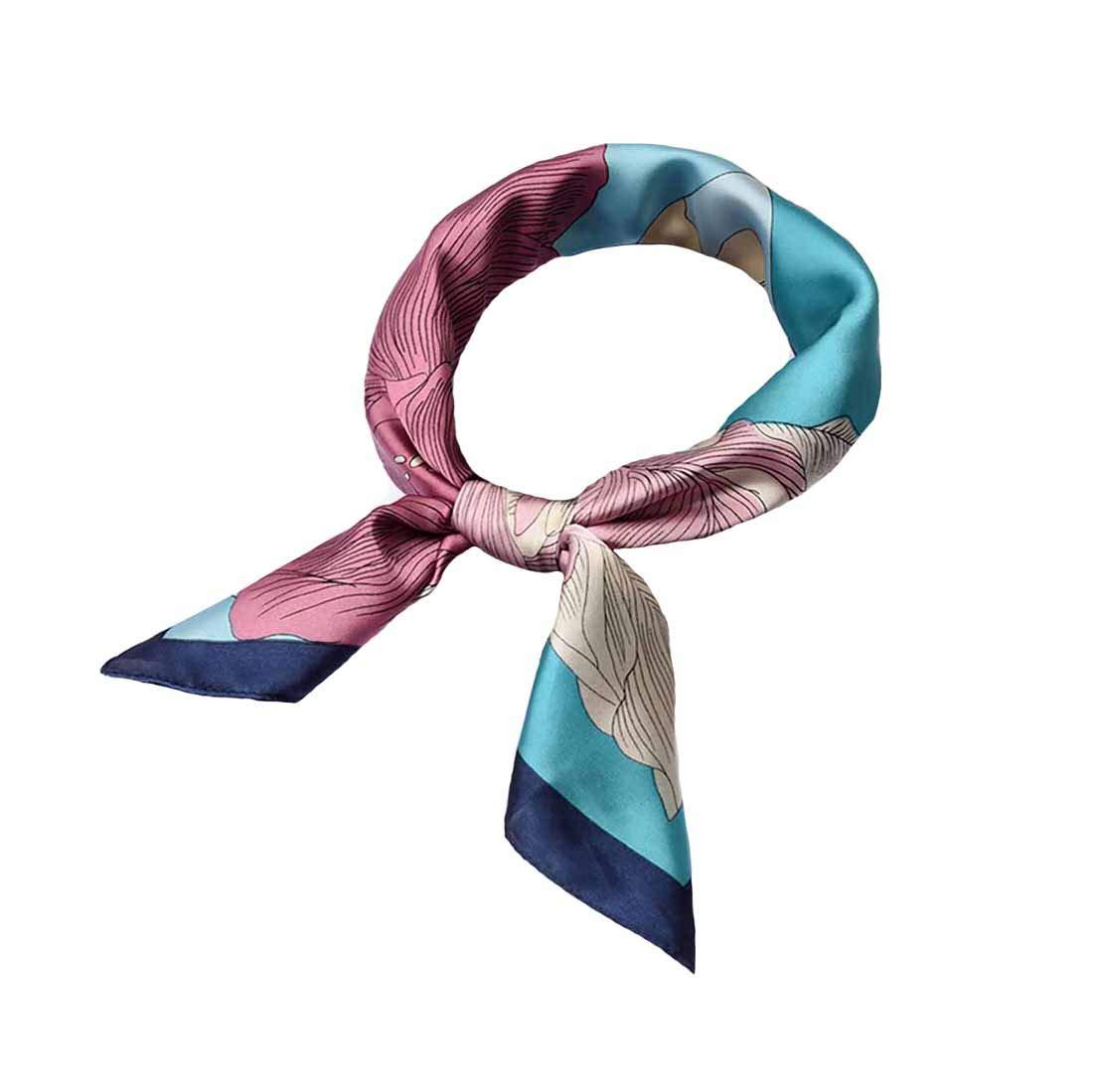 Silk Scarf Square Satin Headscarf Women's Fashion Scarfs Neckerchief Neck Tie (190#)