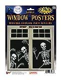 Forum Novelties Skeleton Window Posters (Set of 2), 30 x 48