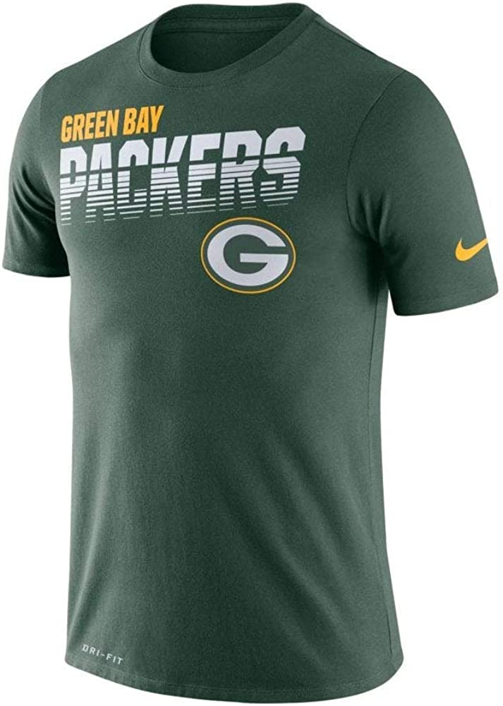 Nike Mens Green Bay Packers Sideline Legend Line of Scrimmage T-Shirt
