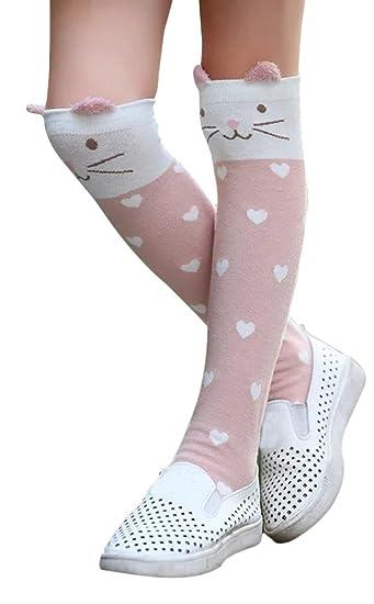 22e7b40b7 Amazon.com  TagoWell Kid Girl Knee High Socks Cartoon Animal Warm Cotton  Stockings Leggings