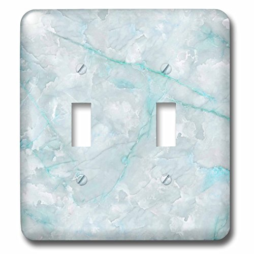 Light Gray Crystal (3dRose Uta Naumann Faux Glitter Pattern - Image of Trendy Luxury Aqua Teal Quartz and Gray Gemstone Agate Geode - Light Switch Covers - double toggle switch (lsp_275124_2))