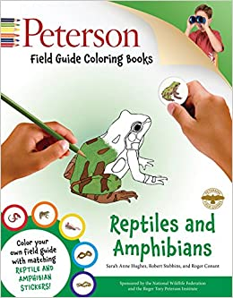 Peterson Field Guide Coloring Books Reptiles And Amphibians Color In Sarah Anne Hughes Roger Tory Conant