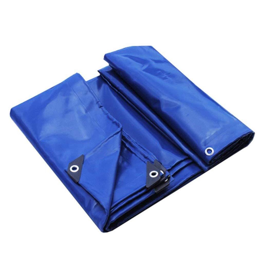 Lina Wasserdichte PVC-Plane im Hochleistungsbereich mit Multifunktionsplanenstärke 0,6 mm Bodenhüllen für Camping, Angeln, Gartenarbeit, UV-Schutz - 650g / m², Blau (größe : 3x3m)