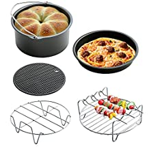 (Set of 5) Air Fryer Cooking Accessories for Gowise Phillips and Cozyna, 7inch Diameter for 3.5QT