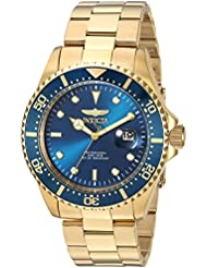 Invicta Men's 'Pro Diver' Quartz Gold-Tone and Stainless Steel Diving Watch, Color:Gold (Model: 23388)