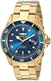 Invicta Men's 'Pro Diver' Quartz Gold-Tone and Stainless Steel Diving Watch, Color:Gold-Toned (Model: 23388)
