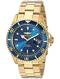 Invicta Men's 'Pro Diver' Quartz and Stainless Steel Diving Watch, Color:Gold-Toned (Model: 23388)