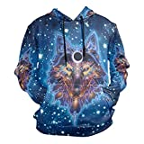 Indian Art Wolves Native American Men's Hipster Hip Hop Classic Pullover Long Hoodie Sweatshirts Jacket