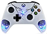 "Cheap ""Skulls White"" Xbox One S Rapid Fire Custom Modded Controller 40 Mods for All Major Shooter Games, Auto Aim, Quick Scope, Auto Run, Sniper Breath, Jump Shot, Active Reload & More (with 3.5 jack)"