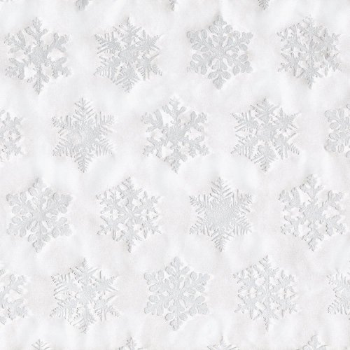 Entertaining with Caspari Continuous Gift Wrapping Paper, Silver Snowflake Embossed, (Snowflake Paper)
