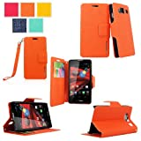 Cellularvilla® Wallet Case for Motorola Droid Razr Hd Xt926 Pu Leather Wallet Card Flip Open Case Cover Pouch. (Orange)