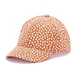 Peppercorn Kids Girls Flower Print Fun Summer Baseball Cap - Juicy Orange - M (2-6Y)