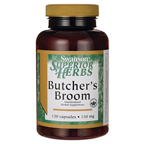 Swanson Butcher's Broom (Standardized) 150 Milligrams 120 Capsules