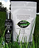 Best Stretch Mark STARTER KIT microdermabrasion Medical Crystals + Green15 Oil for stretch marks shown to prevent and remove old stretch marks, microdermabrasion crystals exfoliate dead scars and stretch marks, stretch mark oil nourishes and repairs overs
