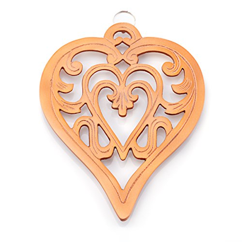 Old Dutch 381CP Royal Heart Trivet, Copper