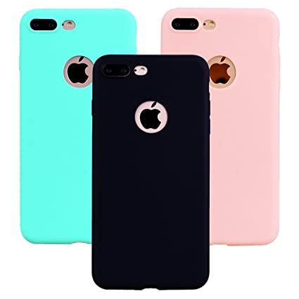 "Funda iPhone 8 Plus, 3Unidades Carcasa iPhone 8 Plus(5.5"") Silicona Gel, OUJD Mate Case Ultra Delgado TPU Goma Flexible Cover para iPhone 8 Plus - ..."
