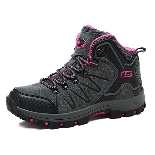 Men Gray 8670 Sneakers Shoes Trekking Ankle Walking Boots Women Hiking Enllerviid Rose Outdoor FwqB5nA